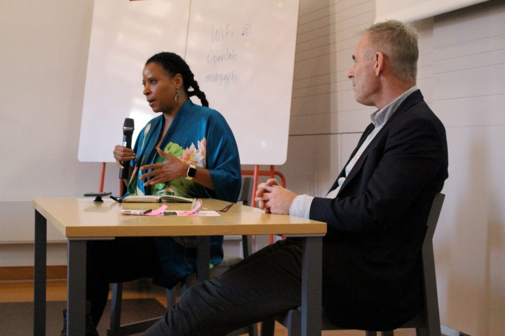 Marisa Parham from Amherst College and Sverker Sörlin from KTH leading a conversation on The University as a Changing Platform for Change. Photo credit: Francesca Albrezzi